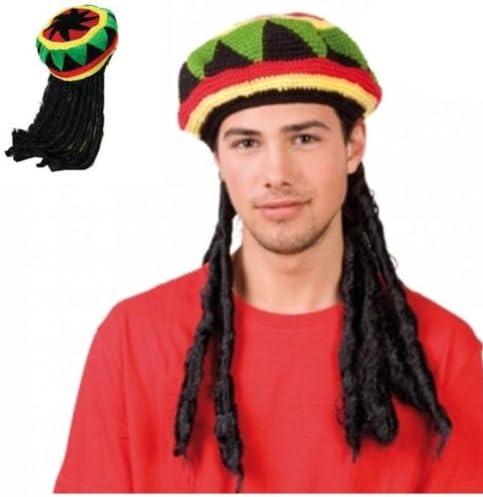 Parrucca RASTA con CAPPELLO travestimento JAMAICANO