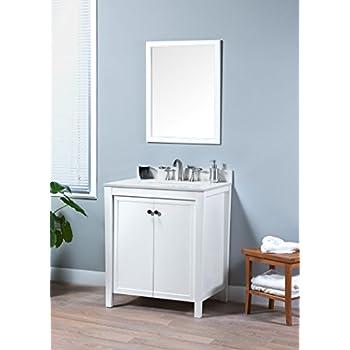 Maykke Nessa Inch Bathroom Vanity Cabinet In Birch Wood White
