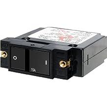 Blue Sea Systems 7403 Single Pole Small Case 2-Inch Flat Rocker Circuit Breaker
