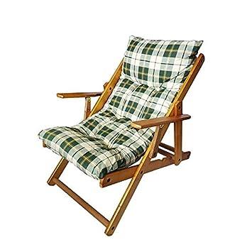 Sedie Sdraio Da Casa.Sedia Sdraio Harmony Relax In Legno Pieghevole Cuscino Imbottito Colore Verde