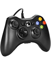 Sefitopher Wired Controller PC Game Console for Microsoft Xbox360 / Xbox 360 Slim / PC Windows (7 8 10) Steam with Dual Vibration 、Improved Ergonomic and Shoulders Buttons USB Gamepad