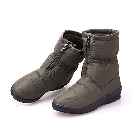 proof Non-Slip Plush Snow Boots Zipper Warm Cotton Shoes ()