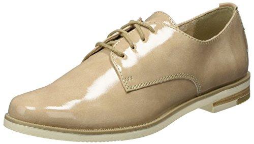 251 Beige nude Cordones 23201 De Tozzi Zapatos Para Oxford Marco Mujer 8SUvgv