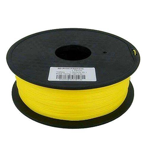 HICTOP 1.75mm PLA Imprimante 3D Filament – 1 kg Spool (2,2 lb) – Précision dimensionnelle +/- 0,05 mm (jaune)