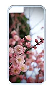 MOKSHOP Adorable Apricot Blossom Buds Hard Case Protective Shell Cell Phone Cover For Apple Iphone 6 (4.7 Inch) - PC White by icecream design