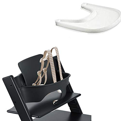 (Stokke Tripp Trapp Baby Set - Black & Tray - White)