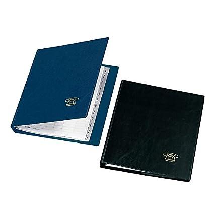Agenda Telefónica, DIN A5, negro: Amazon.es: Oficina y papelería