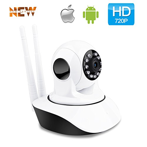 Wireless 720P IP Camera WiFi Home Security Surveillance Camera for Baby/Elder/Pet/Nanny Monitor Pan/Tilt Two-Way Audio & Night Vision (720P)