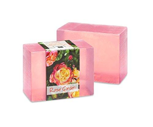 Vegetable Glycerin Bar Soap, Rose Garden, Single Bar, 4.5oz/127.5g each