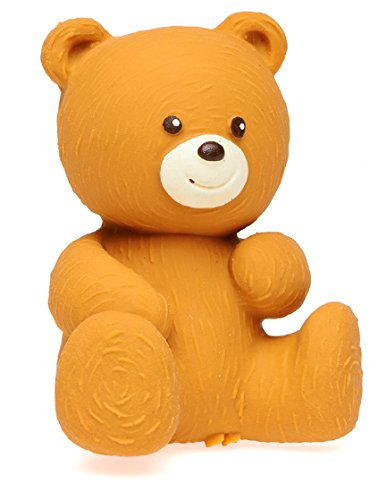 Lanco Brown Bear - Eco-Friendly Baby Play Toy, BPA Free 100% Natural Rubber, Safe Sensory Fun for Infants and Newborns -