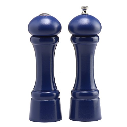 Chef Specialties 8 Inch Windsor Pepper Mill and Salt Shaker Set - Cobalt - Blue Pepper And Salt