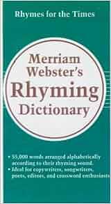 merriam webster rhyming dictionary pdf