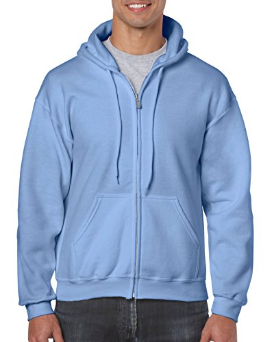 Gildan Men's Fleece Zip Hooded Sweatshirt Carolina Blue ()