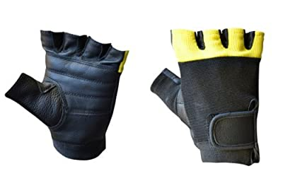 Leather Multi-Purpose Biker Motorcycle Cycling Weightlifting Gym Workout Fitness Fingerless Gloves lll-1007