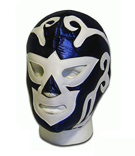 WRESTLING MASKS UK Men's Huracan Ramirez Luchador Lucha Libre Wrestling Mask One Size Blue/White