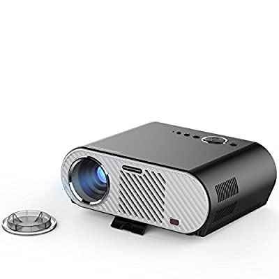 "Abdtech 1200 Lumens Mini LED Projector Multimedia Home Theater- Max 130"" Screen Optical Keystone USB/AV/SD/HDMI/VGA Interface ¨C Ideal for Video Games, Movie Night, Family Videos and Pictures"
