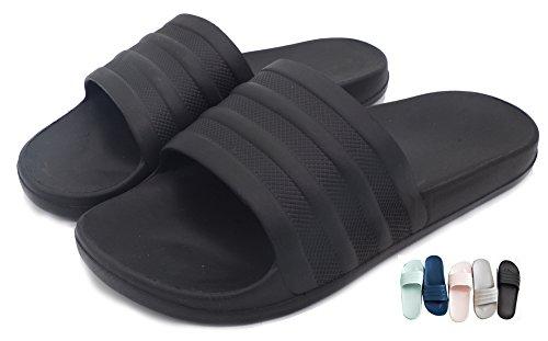 men or Men,Indoor&Outdoor Floor Sandal Bath Slipper Anti-Slip Sandal Home Slippers Beach Sandal Black US 8.5 9 ()