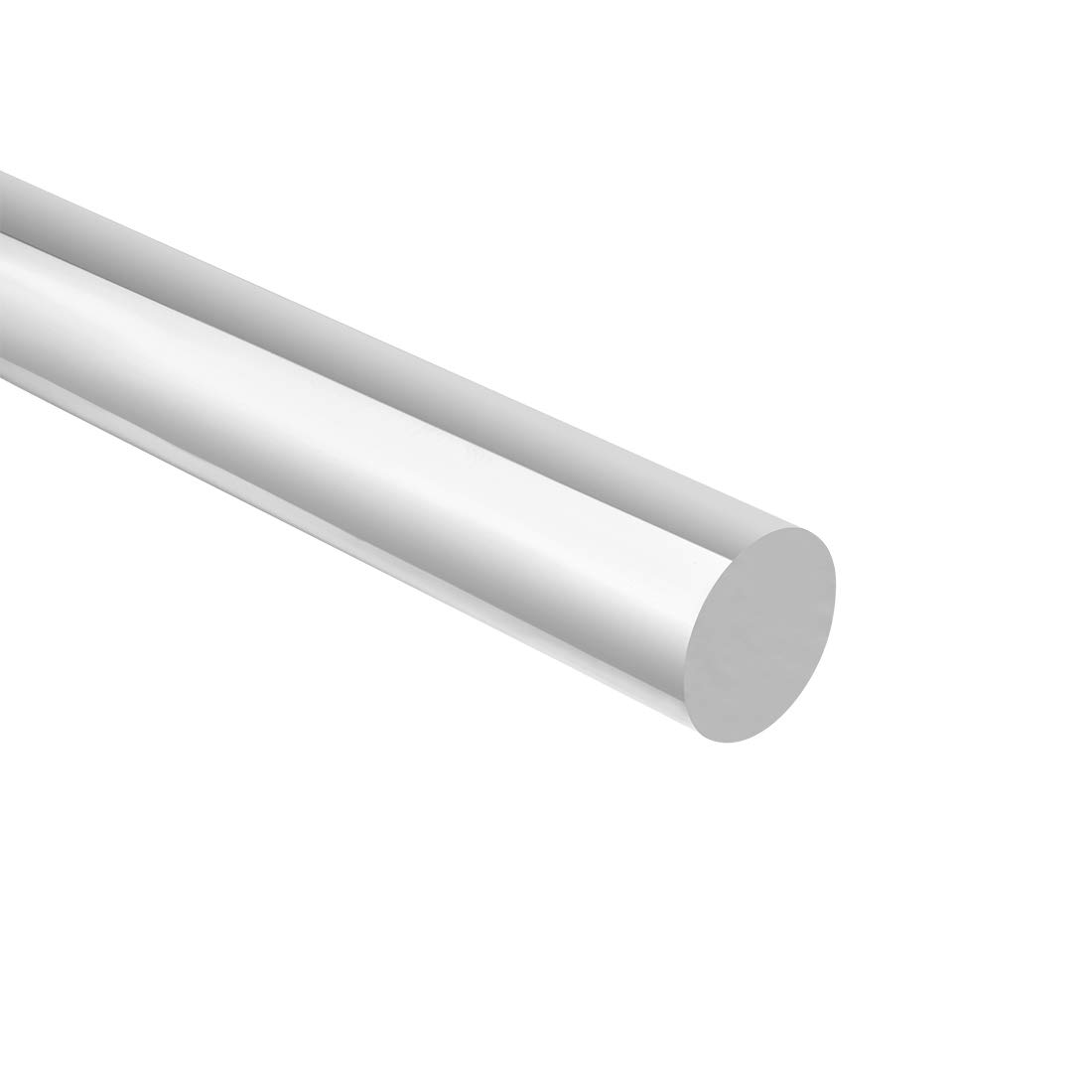 uxcell 8mmx500mm Round Shape Solid Acrylic Rod PMMA Extruded Bar Clear