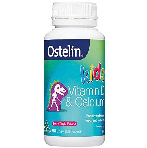 Ahth Ostelin Vitamin D and Calcium Kids Chewable 90 capsules berry tringle flavor Origin of Australia Dinosaur
