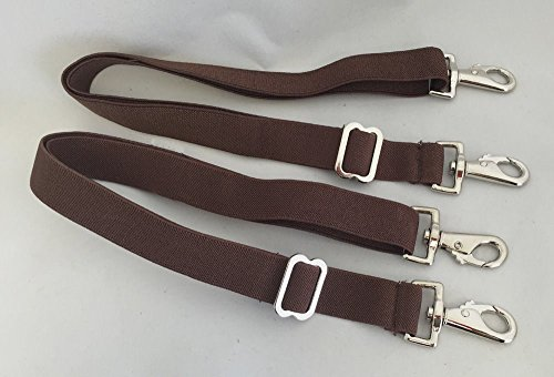 s Leg Straps Detachable Adjustable Elastic Brown -Pair (Blanket Strap)