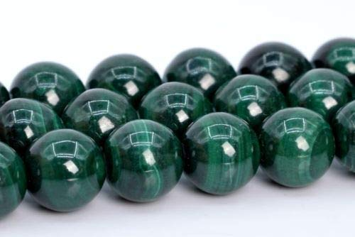 7-8mm Genuine Natural Malachite Beads Grade A Round Gemstone Loose Beads 15.5'' Crafting Key Chain Bracelet Necklace Jewelry Accessories Pendants