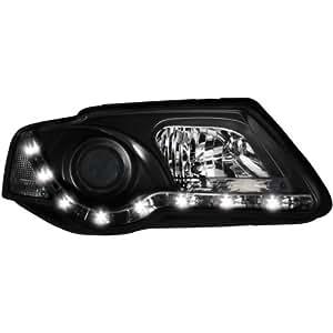 Dectane SWV29SGXB Faros Delanteros con Luces de Circulación Diurna, Negro