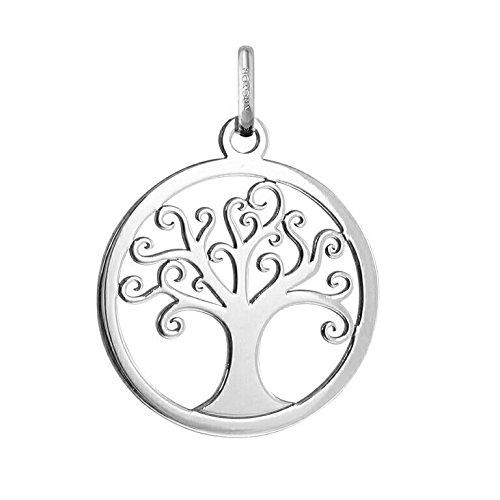 MÉDAILLE ARBRE DE VIE - Médaille Ajourée - Or 18 carat - Hauteur: 20 mm - www.diamants-perles.com A24B8400097-B