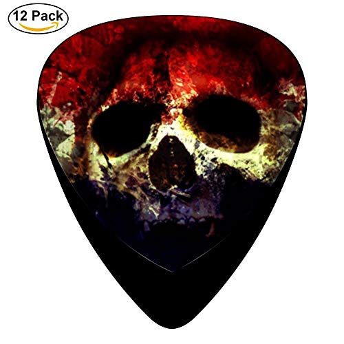 Skull With Flag With Secret Celluloid Electric Guitar Picks 12-pack Plectrums For Bass Music Tool ()
