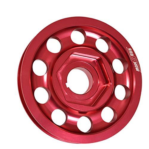 (Fit Honda Civic/Integra (B16/B18 DOHC Engines Only) Aluminum Alternator Crank Pulley Wheel (Single Belt) Red)