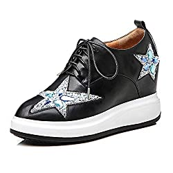 Wedge Sneakers With Rhinestone