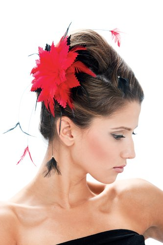Paper Magic Women's French Kiss Novelty Black And Red Hair Clip, Black, One Size -