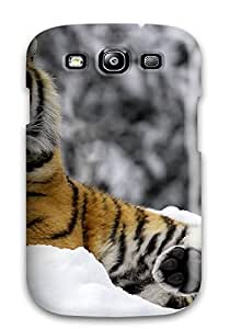 Durable Case For The Galaxy S3- Eco-friendly Retail Packaging(tiger In Winter)