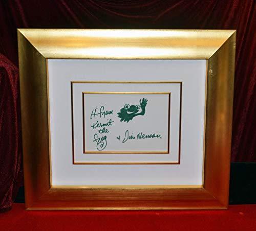 (Very Rare late JIM HENSON Signed Original Sketch