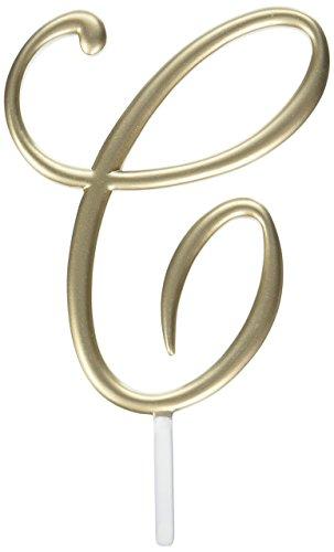 Lillian Rose Monogram Cake Topper Letter C Gold (Rose Gold Wedding Cake)