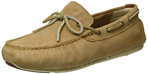 Cole Haan Men's Zerogrand Camp MOC Driver Driving Style Loafer, iced Coffee Suede/Brazilian Sand, 10 Medium US