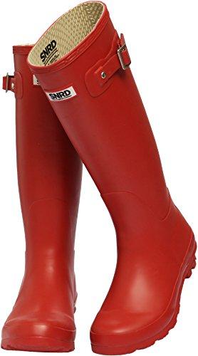 Rain Waterproof Fashion SNRD Red Boots Women 301 Wellington qSXXUtgx