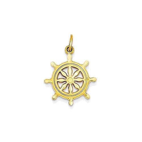Jewels By Lux 14k Ships Wheel - Gold Wheel Ships