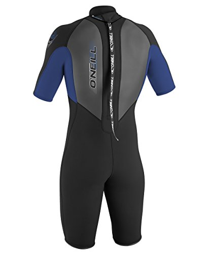 O'Neill Wetsuits Mens 2mm Reactor Spring Suit, Black/Pacific/Graphtron, Large