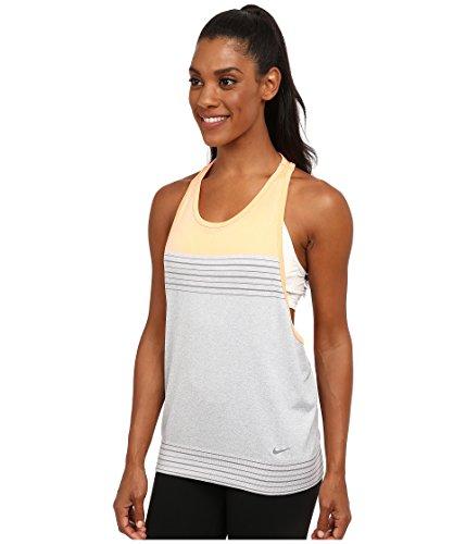 Nike Dri- Fit Knit Loose Womens Training Tank Top Shirt (L, Orange/grey)