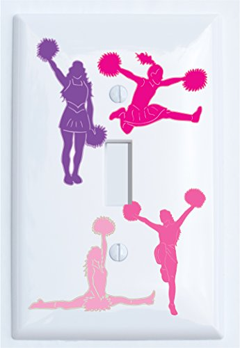 Girl Plate Cheerleader (Cheerleader Switch Plate Covers / Single Toggle Cheerleader Light Switch Plates)
