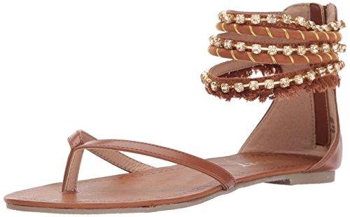 Report Women's Gentry Flat Sandal, Cognac, 7.5 M US ()
