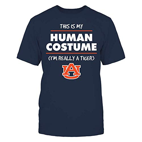 FanPrint Auburn Tigers T-Shirt - HalloweenCostume T-Shirt | Tank - Men's Tee/Navy/S