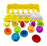J-hong Matching Eggs - Toddler Toys - Educational Color & Recognition Skills Study