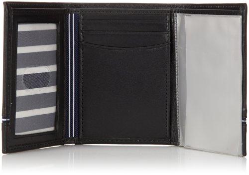 Nautica Men's Trifold Wallet,Black,