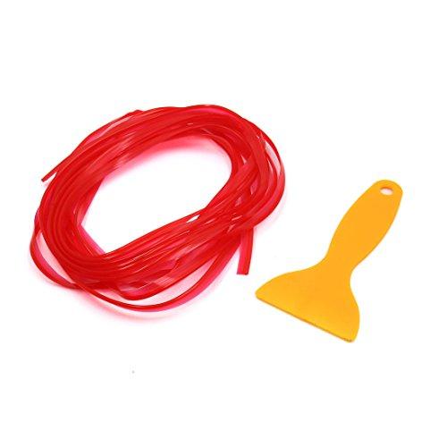 uxcell 5M Red Flexible Car Interior External Decorative Moulding Trim Strip Line ()