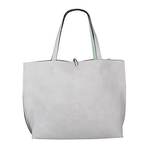 Street Level 7228 Reversible 2in1 Shopper grey mint