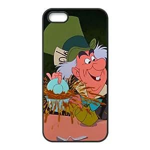 Disney Alice In Wonderland Character Mad Hatter funda iPhone 5 5s caja funda del teléfono celular del teléfono celular negro cubierta de la caja funda EEECBCAAB16996