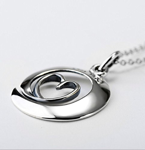 """Argent de montagne Argent sterling 925Collier pendentif coeur """"I Love You to the moon and back"""" Amour, 45,7cm"""