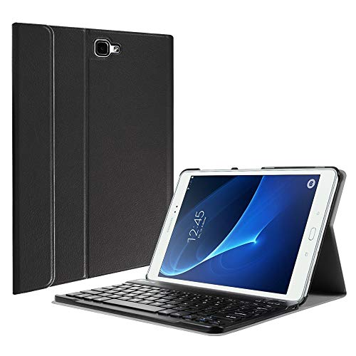 Fintie Samsung Galaxy Tab A 10.1 (NO S Pen Version) Keyboard Case, Slim Lightweight Stand Cover w/Magnetically Detachable Wireless Bluetooth Keyboard Compatible with Tab A 10.1 Inch, Black