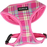 Puppia Soft Dog Harness Spring Pink Large, My Pet Supplies